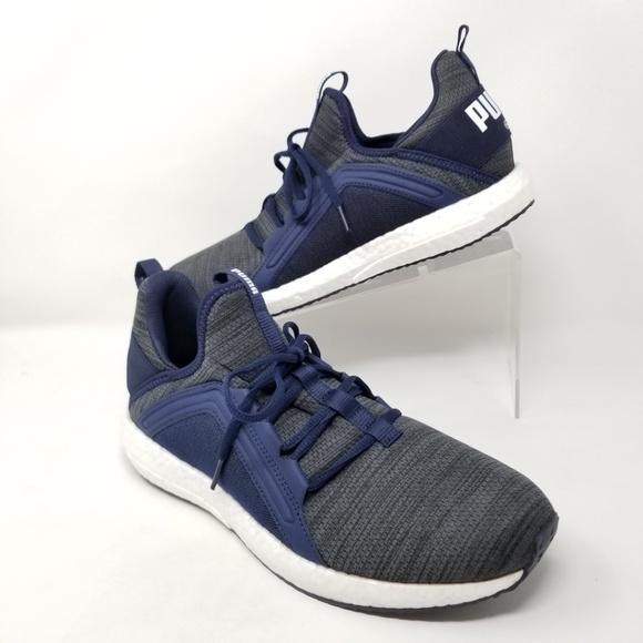 a402a0764be3ca Puma Mega Nrgy Heather Knit Shoes Blue Gray US 10
